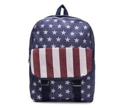 Rucksack Mit Amerikanischer Flagge Drucken