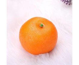 Orange Fake-Fruit 5 Stück