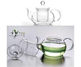 Glas Teekanne In Den Verschiedenen Größen