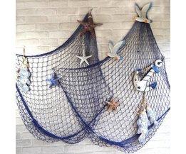 Dekoration Fischernetz Mit Shells