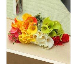 Artificial Blumenstrauß Calla 10 Stück