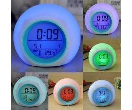 Digital-Wecker 7 Farben-LED-Licht Und Natürliche Klänge