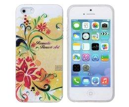 Abdeckung Mit Blumen-Druck Für IPhone 5 & 5S