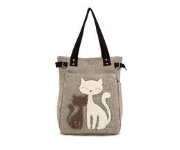 Leinwand-Tasche Mit Katze Impressum