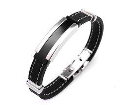 Schwarz-Silber-Armband Für Männer