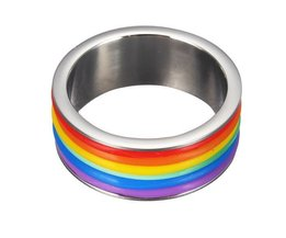Regenbogen-Ring 9 Mm Breites Titanium