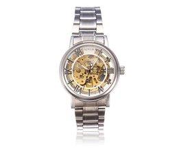 Silber-Edelstahl-Uhr