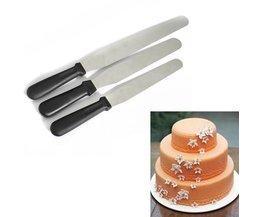 Kuchen Spatel Edelstahl Kunststoffgriff
