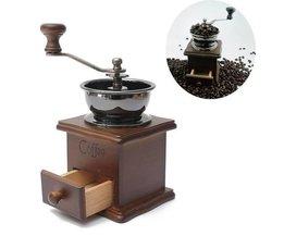 Manuelle Kaffeemühle Holz Retro