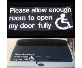 Auto-Aufkleber Rollstuhl