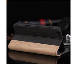 Leder-Kasten Mit Holz-Muster Für IPhone 6 Plus
