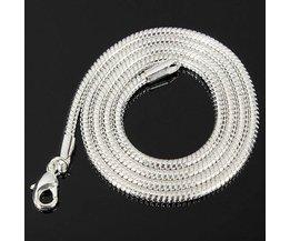Unisex Silber-Schnur-Halskette