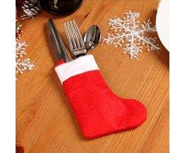 Weihnachten Tischdekoration Besteck Dekoration 10Pcs