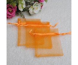 25 Orange Günstige Organza Taschen
