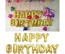 Geburtstag Ballons Gold-
