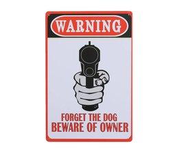 Gefahrzeichen Mit Gewehr-Druck Und Text