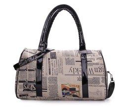 Große Tasche Zeitungs-Druck