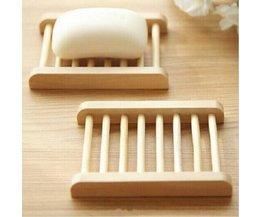 Umweltfreundliche Bambus Seifenschale