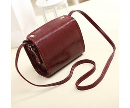 Retro-Leder-Handtasche