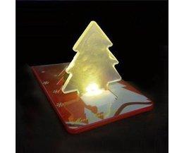 LED-Weihnachtskarte Mit Faltbarem Weihnachtsbaum