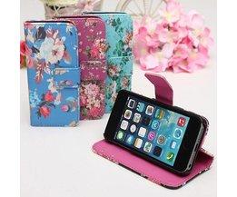 Flip-Blumen Hülle Für IPhone 5 & 5S