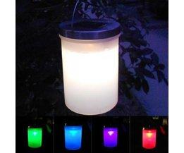 Solar-LED-Laterne