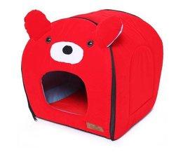 Red Bärenhütte Für Katzen Und Hunde
