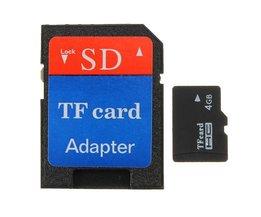 4GB Micro SD TF Inklusive Adapter