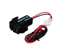USB-Buchse Nissan 12V 3A Mit Zwei USB-Ports