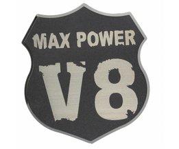V8-Emblem Für Auto In 3D