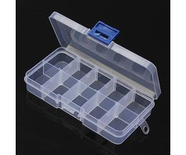 Storage Box With 10 Compartments Transparent