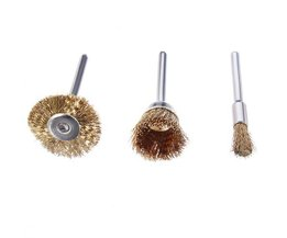 Set Of 3 Steel Brushes For Your Rotary Tool