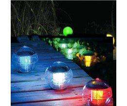 Floating Garden Lights On Solar Energy