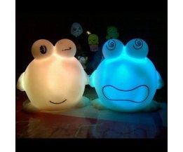 Frog LED Night Light On Battery