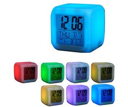 Colorful Digital LED Clock With Thermometer
