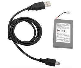 Rechargeable Battery And Cable For PS3 Controllers