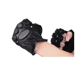 Cyclist Leather Gloves