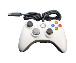White USB Controller For Xbox 360