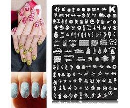 Nail Art -Template For Christmas