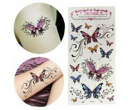 Stick Waterproof Temporary Tattoo Butterfly