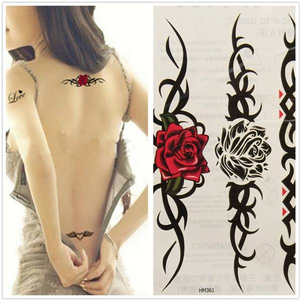 1498bbadf Roses Temporary Tattoo - Buy online - Cheapest | MyXL Gadget Shop UK
