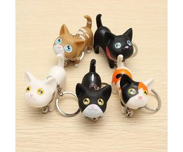 Keychain With Cute Cat