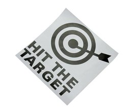 '' HIT THE TARGET '' WC Sticker
