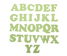 26 English Glow In The Dark Letter Stickers