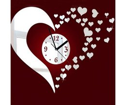 Do It Yourself Mirror Clock Hearts