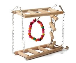 Bird Toys With Ladders And Rings