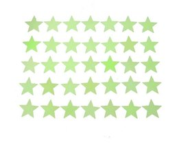 Glow In The Dark Stars Wall Stickers (35 Pieces)