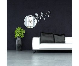 Wall Clock With Butterfly Theme Wall Sticker