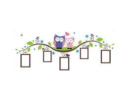 Cheap Wall Sticker Owl With Frames