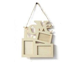 Wooden Frame 3 Liege With Love